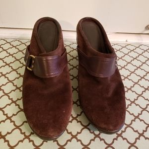 Cole haan slip on shoes. Brown leather